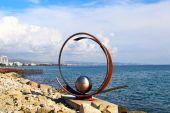 Sculpture in Molos park, Limassol — Stock Photo