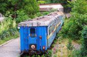 Abandoned children's railway in Uzhgorod, Ukraine — Stock Photo