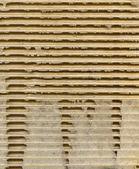 Ribbed cardboard — Stock Photo