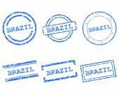 Francobolli Brasile — Vettoriale Stock
