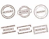 Pazartesi pullar — Stok Vektör
