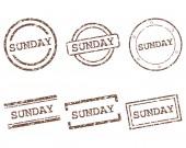 Sunday stamps — Stockvektor