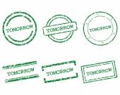 Tomorrow stamps — Stock Vector