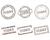 Today stamps — Stock Vector
