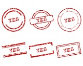 Yes stamps — Stock Vector