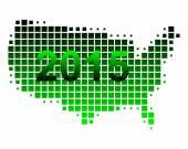 Map of USA 2015 — Stockvektor