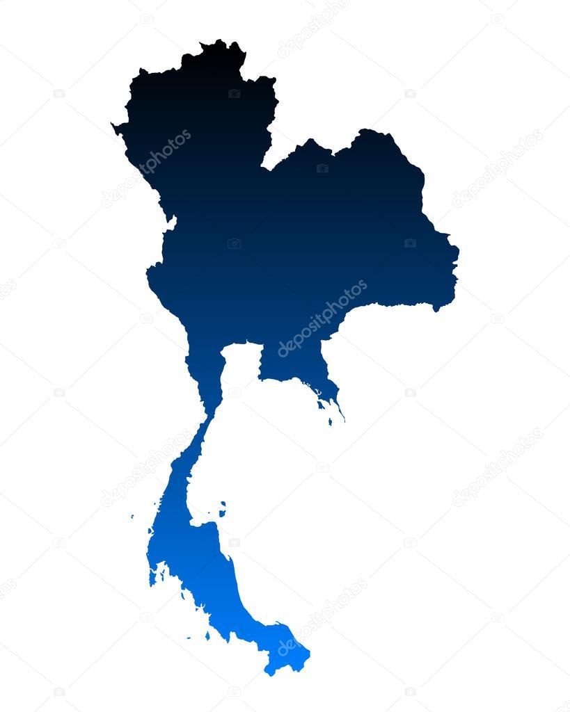 泰国的地图– 图库插图