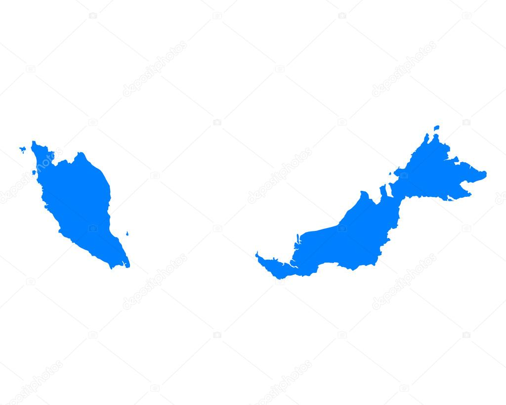 马来西亚地图 — 图库矢量图片#69439955