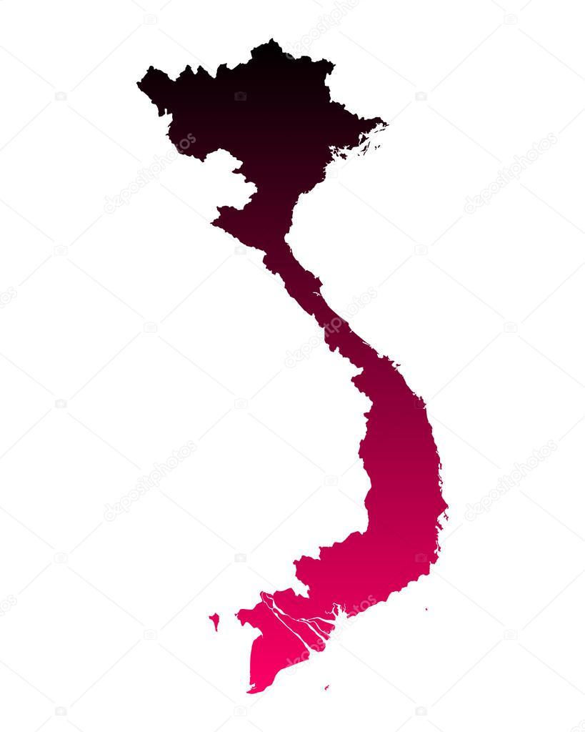 越南的地图 — 图库矢量图像08