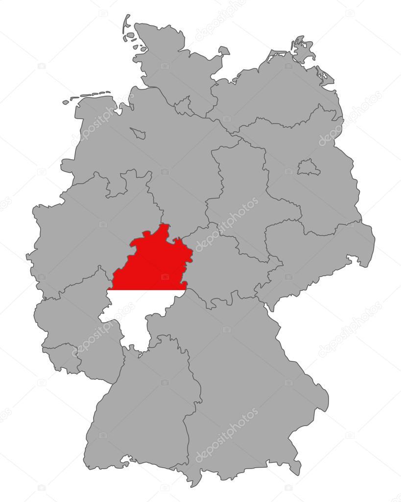 德国黑森州国旗与地图 — 图库矢量图像08 r