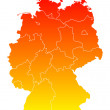 Map of Germany — Stock Vector #77785406