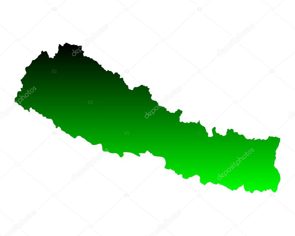 尼泊尔的地图 — 图库矢量图像08