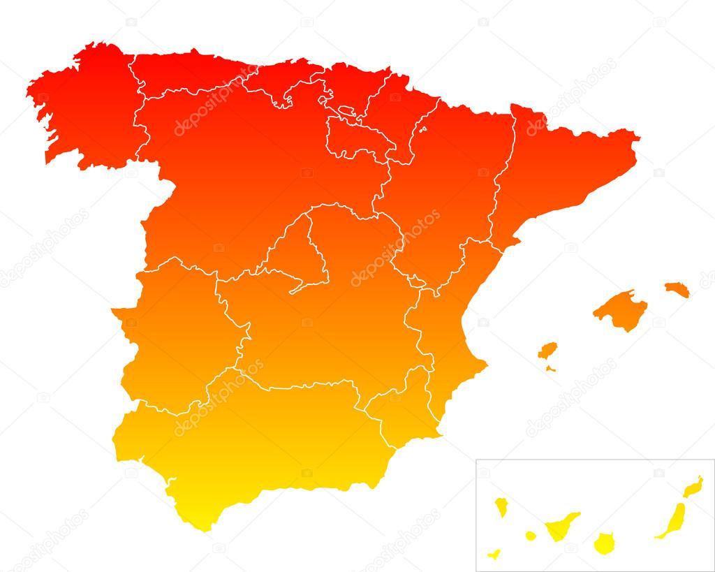 西班牙的地图 — 图库矢量图片#84556738