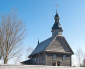 Medieval wooden church — Stock Photo