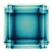 Greenish blue sandwich fractal — Stock Photo