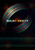 Template of flyer for night club party — Stock Vector
