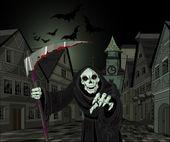 Halloween horrible Grim Reaper — Stock Vector