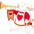 Bunny royal trumpeter — Stock Vector #56232193