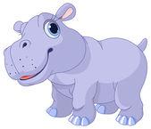 Cute hippo calf — Stock Vector