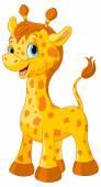 Little cute giraffe calf — Stock Vector