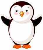 Cute baby penguin — Stock Vector