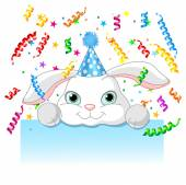 Bunny birthday card — Stockvector
