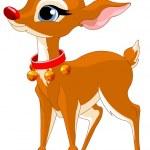Christmas reindeer Rudolf — Stock Vector #60610835