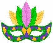 Mardi Gras mask — Stock Vector