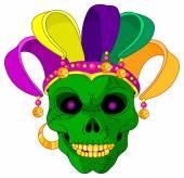 Cartoon Mardi Gras jester — Stock Vector