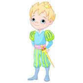 Cute prince — Stock Vector