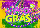 Mardi Gras flag — Stock Vector