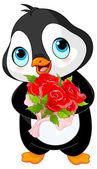 Pinguino sveglio di giorno di San Valentino — Vettoriale Stock