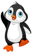 Dancing baby penguin — Stock Vector