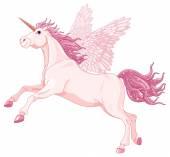 Pink Unicorn Pegasus — Wektor stockowy