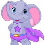 Super Hero Elephant — Stock Vector #70305611