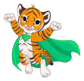Super Hero Tiger — Vector de stock