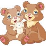 Illustration of a bear family — Stock Vector #71208653