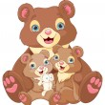 Illustration of a bear family — Stock Vector #71208665