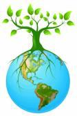 Symbol ziemi jasne — Wektor stockowy