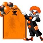 Scary Halloween clown — Stock Vector #78409160