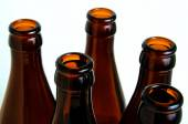 Glass bottles for industrial utilization. — Stock Photo