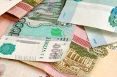 Rubles. — Stock Photo