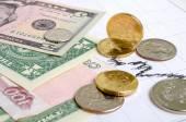 Ruble  exchange rate. — Stock Photo