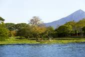 Lake Nicaragua on a background an active volcano Concepcion — Stock Photo