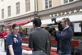 Informes con los habitantes de Estocolmo — Foto de Stock