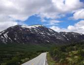 Scenic empty road in beautiful mountains of Norway — Stock Photo