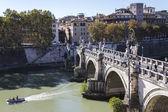 Saint Angelo Bridge across the river Tiber — Stock Photo