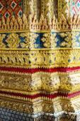 Decorative patterns in Wat Phra Kaew, Emerald Buddha Temple — Stock Photo