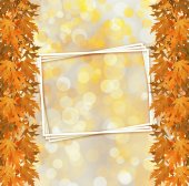 Orange autumnal branch of  tree on abstract background with boke — 图库照片