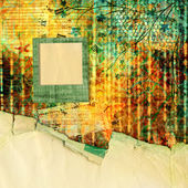 Abstract beautiful background in the style of mixed media with f — Photo